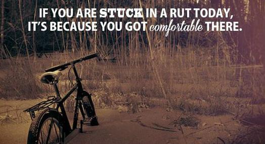 Bike in a rut